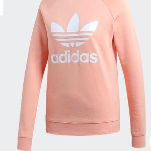 ADIDAS Trefoil crewneck sweatshirt in dust pink